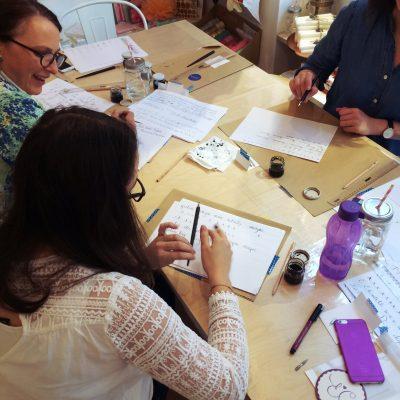 Kalligraphie Workshop Ina La Vie Salzburg18 moonstone