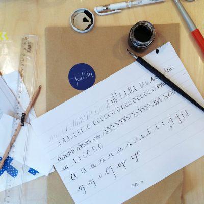 Kalligraphie Workshop Ina La Vie Salzburg8 moonstone