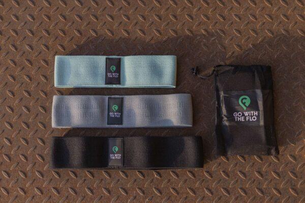3er Set GoWithTheFlo Minibands in 3 Stärken am Boden