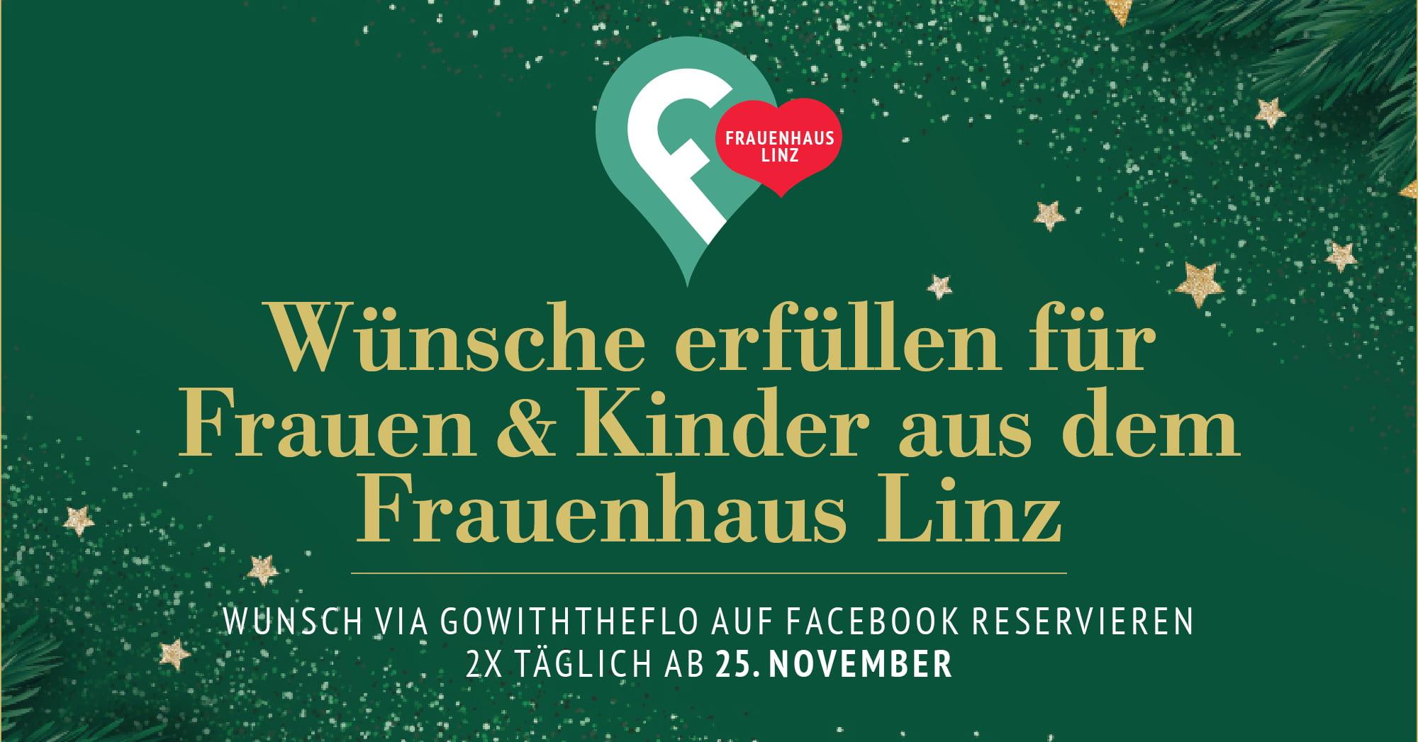 Weihnachtswünsche fürs Frauenhaus Linz